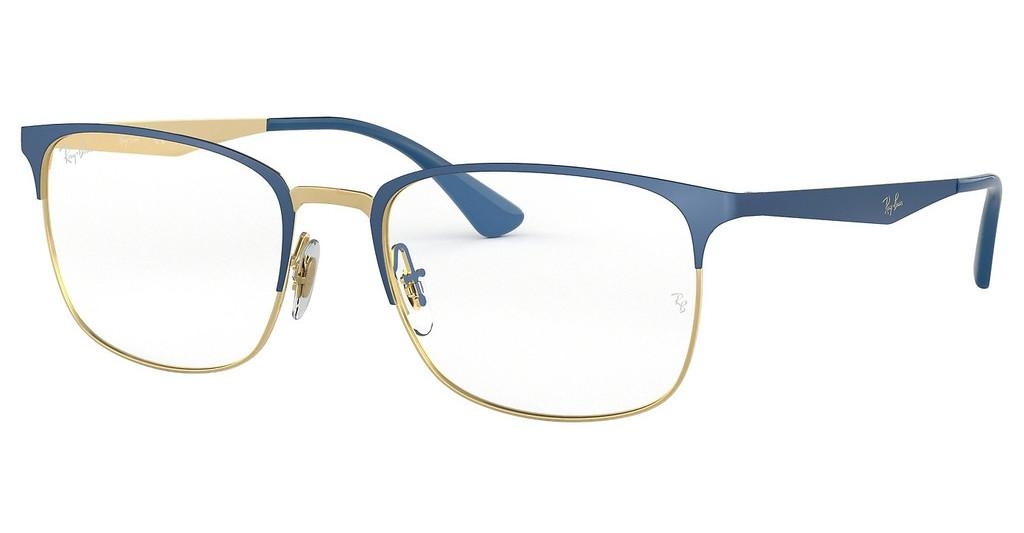Ray-Ban   RX6421 3002 GOLD ON TOP MATTE BLUE