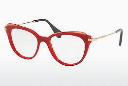 Eyewear Miu Miu MU 01QV VX91O1 - Red, Transparent