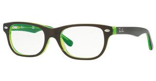 Ray-Ban Junior RY1555 3665 TOP BROWN ON GREEN FLUO