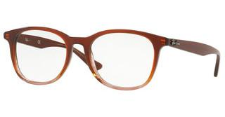 Ray-Ban RX5356 5767 BROWN ON STRIPPED BROWN