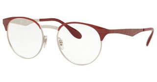 Ray-Ban RX6406 3024 SILVER ON TOP RED MOVE