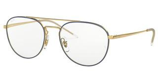 Ray-Ban RX6414 2979 GOLD TOP BLUE