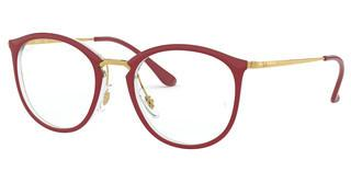 Ray-Ban RX7140 5854 TRANSPARENT ON TOP AMARANTH