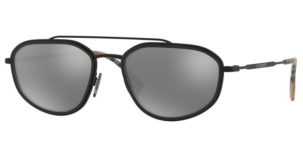 Burberry   BE3106 10076G LIGHT GREY MIRROR BLACKMATTE BLACK/BLACK