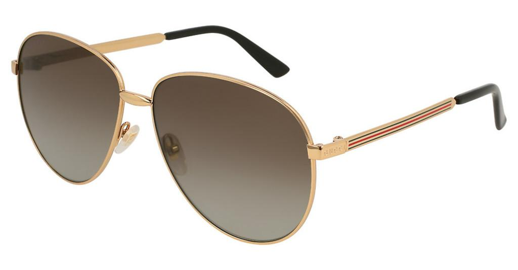 Gucci   GG0138S 005 BROWNGOLD