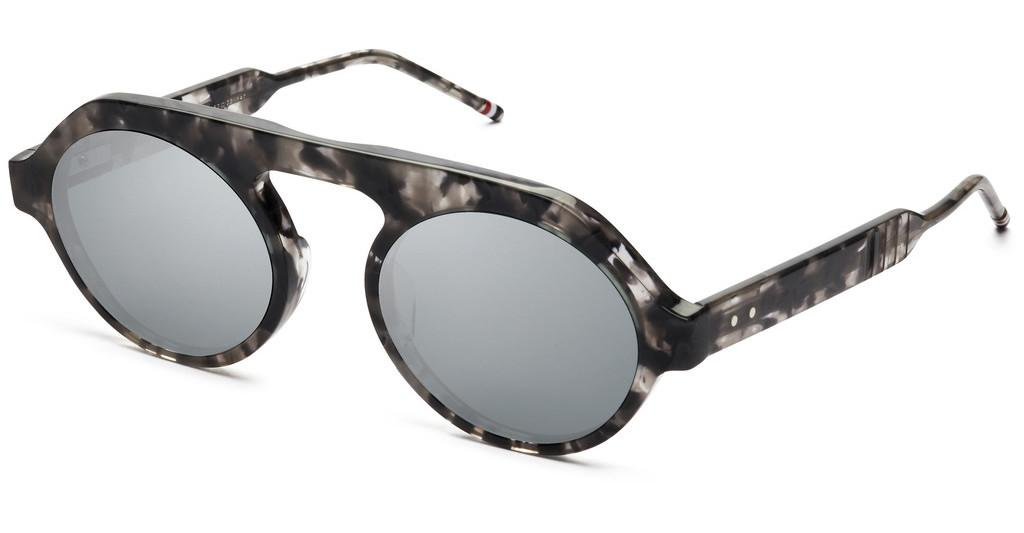 Thom Browne   TBS413 03 Dark Grey - Silver Flash Mirror - ARGrey Tortoise