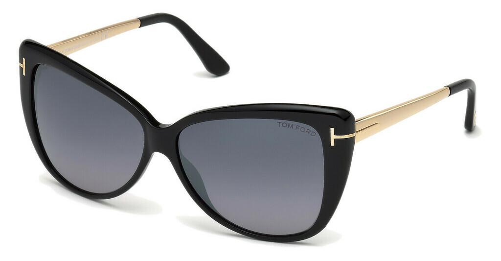 256c3a482117 Find tom ford reveka 01c shiny black smoke mirror £423 sunglasses ...