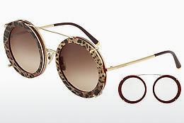 Ophthalmics Dolce & Gabbana DG2198 131813 - Gold, Red, Leopard