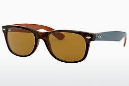 Ophthalmics Ray-Ban NEW WAYFARER (RB2132 6179) - Brown, Havanna
