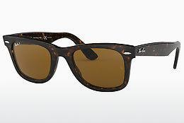 Ophthalmics Ray-Ban WAYFARER (RB2140 902/57) - Brown, Havanna