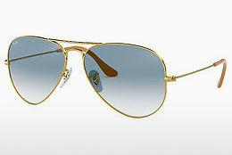Ophthalmics Ray-Ban AVIATOR LARGE METAL (RB3025 001/3F) - Gold