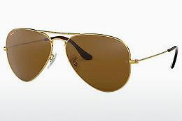 Ophthalmics Ray-Ban AVIATOR LARGE METAL (RB3025 001/57) - Gold