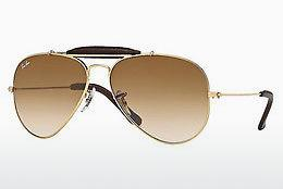 Ophthalmics Ray-Ban AVIATOR CRAFT (RB3422Q 001/51) - Gold, Brown