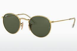 Ophthalmics Ray-Ban ROUND METAL (RB3447N 001) - Gold