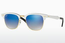 Ophthalmics Ray-Ban CLUBMASTER ALUMINUM (RB3507 137/7Q) - White