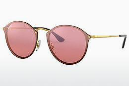 Ophthalmics Ray-Ban Blaze Round (RB3574N 001/E4) - Gold