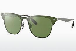 Ophthalmics Ray-Ban Blaze Clubmaster (RB3576N 042/30) - Green, Silver