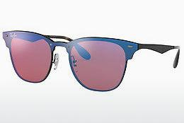 Ophthalmics Ray-Ban Blaze Clubmaster (RB3576N 153/7V) - Purple, Black