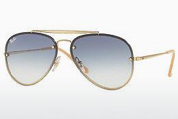 Ophthalmics Ray-Ban BLAZE AVIATOR (RB3584N 001/19) - Gold