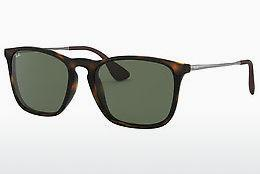 Ophthalmics Ray-Ban CHRIS (RB4187 710/71) - Brown, Havanna