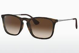 Ophthalmics Ray-Ban CHRIS (RB4187 856/13) - Brown, Havanna