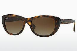 Ophthalmics Ray-Ban RB4227 710/T5 - Brown, Havanna