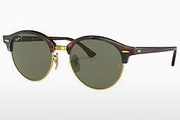 Ophthalmics Ray-Ban CLUBROUND (RB4246 990/58) - Brown, Havanna