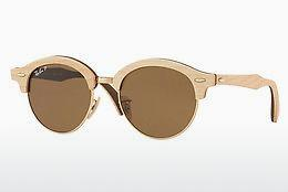 Ophthalmics Ray-Ban Clubround Wood (RB4246M 117957) - Gold