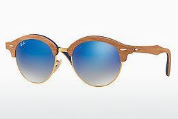 Ophthalmics Ray-Ban Clubround Wood (RB4246M 11807Q) - Gold