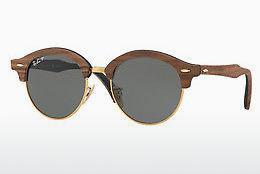 Ophthalmics Ray-Ban Clubround Wood (RB4246M 118158) - Gold