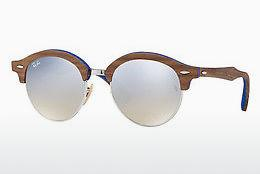 Ophthalmics Ray-Ban Clubround Wood (RB4246M 12179U) - Silver