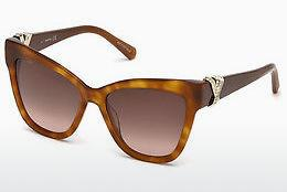 Ophthalmics Swarovski SK0157 52G - Brown, Dark, Havana