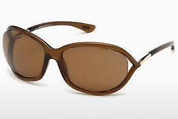 Ophthalmics Tom Ford Jennifer (FT0008 48H) - Brown, Dark, Shiny