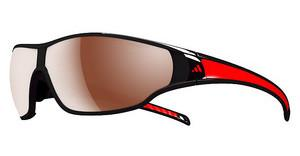 Adidas A191 6051 LST polarized silver H+shiny black/red pol