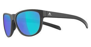 Adidas A425 6055 grey/blue mirror Hblack matt/black