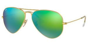 Ray-Ban RB3025 112/19 CRY.GREEN MIRROR MULTIL.GREENMATTE GOLD