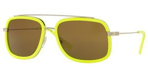 Versace VE2173 139473 BROWNPALE GOLD/FLUO YELLOW