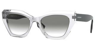 Burberry BE4299 38318E CLEAR GRADIENT LIGHT GREENTOP GREY ON TRANSPARENT
