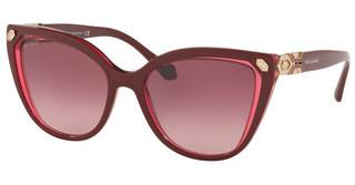 Bvlgari BV8212B 54698H PINK GRADIENT DARK VIOLETTOP BORDEAUX ON TR RED
