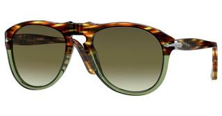 Persol PO0649 1122A6 GREEN GRADIENT BROWNSTRIPED BROWN/TRANSP GREEN