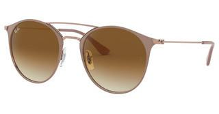 Ray-Ban RB3546 907151 CLEAR GRADIENT BROWNCOPPER TOP ON BEIGE