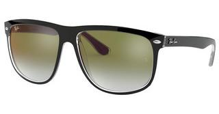 Ray-Ban RB4147 6039W0 CLEAR GRADIENT GREEN MIRROR RETOP BLACK ON TRANSPARENT