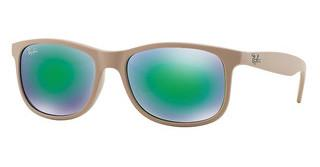 Ray-Ban RB4202 61543R GREEN MIRROR GREENSHINY BEIGE ON MATTE TOP