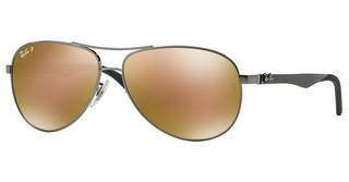 Ray-Ban RB8313 004/N3 BROWN MIRROR GOLD POLARSHINY GUNMETAL