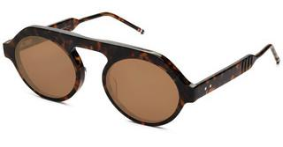 Thom Browne TBS413 02 Dark Brown - Gold Flash Mirror - ARTokyo Tortoise