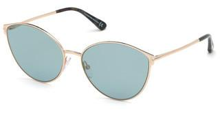Tom Ford FT0654 28X blau verspiegeltrosé