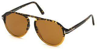 Tom Ford FT0756 55E braunhavanna bunt