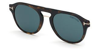 Tom Ford FT5533-B-CL 52V blauhavanna dunkel