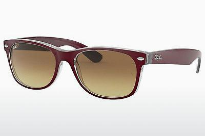 Ophthalmics Ray-Ban NEW WAYFARER (RB2132 605485) - Red, Transparent