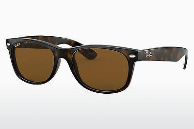 Ophthalmics Ray-Ban NEW WAYFARER (RB2132 902/57) - Brown, Havanna